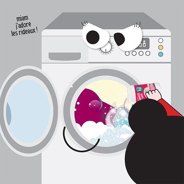 laver les plaids et les rideaux à la machine